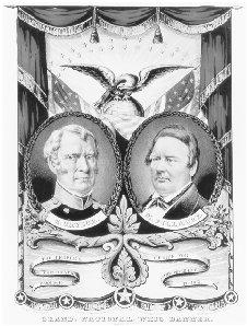 A Taylor–Fillmore campaign poster distributed by the Whig Party in 1848. THE LIBRARY OF CONGRESS