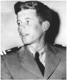 Navy lieutenant John F. Kennedy returned to the United States in 1944 following his heroic exploits in the Pacific as a commander of a PT boat rammed by a Japanese destroyer. AP/WIDE WORLD