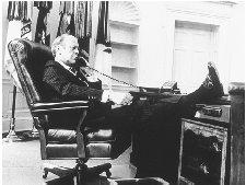 Gerald R. Ford in the Oval Office. Ford's short term was marked by the controversial pardon he gave to President Nixon and the difficult economic circumstances faced by the United States. ARCHIVE PHOTOS